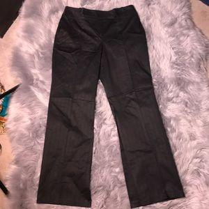 Black Ann Taylor Loft pinstripe black pants 10
